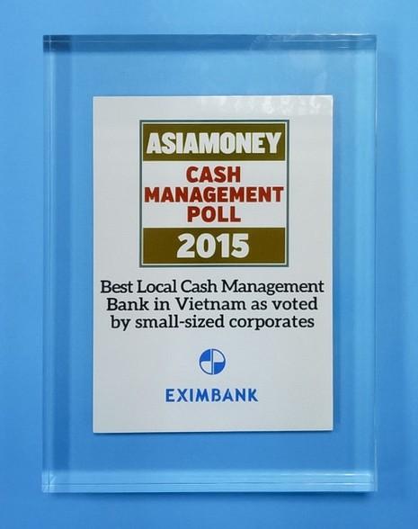 Eximbank: 'Ngân hàng Quản lý tiền mặt nội địa tốt nhất Việt Nam - 2015' - ảnh 1