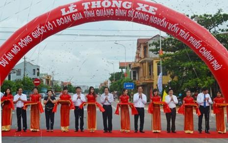 Chính thức thông xe quốc lộ 1A đoạn qua tỉnh Quảng Bình. - ảnh 1