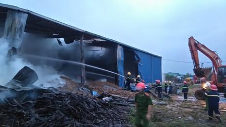 Huy động hàng trăm cảnh sát chữa cháy kho chứa gỗ dăm - ảnh 3