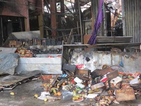 Hỗ trợ hơn 400 triệu đồng cho các tiểu thương vụ cháy chợ Tứ Hạ - ảnh 1