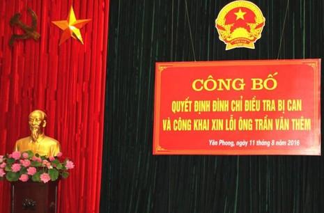 Công khai xin lỗi tử tù 43 năm Trần Văn Thêm - ảnh 1