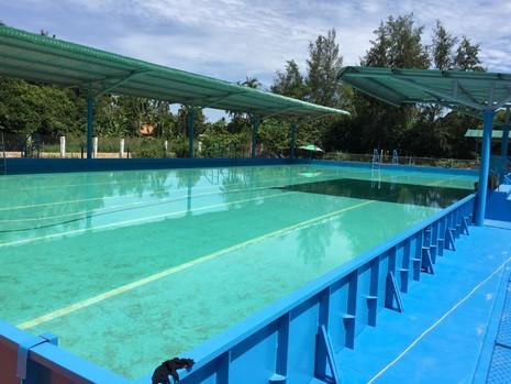 Hồ bơi mới của trường Nghĩa Hà