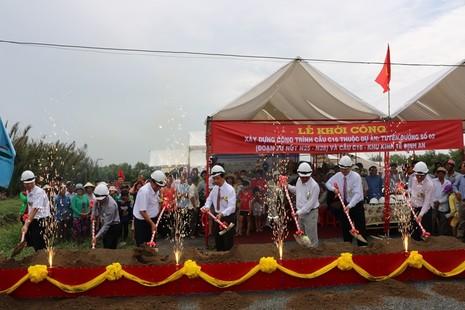 nghi thức Lễ khởi công công trình cầu C16