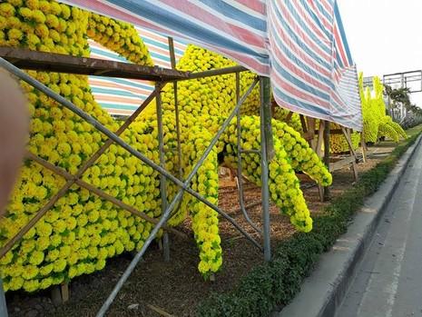 Gỡ hoa hình con rồng trên đường phố Hải Phòng - ảnh 5