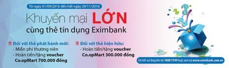 Khuyến mãi lớn cùng thẻ tín dụng Eximbank - ảnh 1
