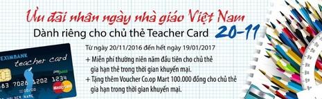 Eximbank: Teacher Card Paypass mừng ngày Nhà giáo VN - ảnh 1