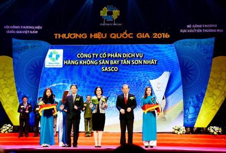 SASCO đạt Thương hiệu Quốc gia 2016 - ảnh 1