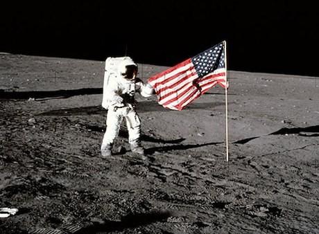 Mỹ không muốn trở lại mặt trăng vì họ muốn hướng tới sao Hỏa. Ảnh: NASA.