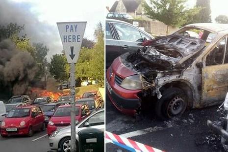 Xe ô tô bất ngờ nổ lớn: Hai vợ chồng thoát chết trong gang tấc - ảnh 1
