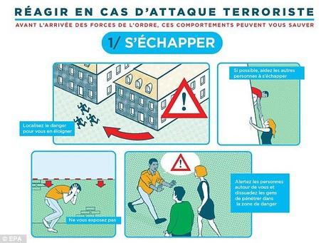 Pháp tung áp phích hướng dẫn người dân tránh khủng bố - ảnh 1