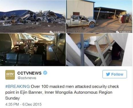 Hơn 100 kẻ bịt mặt tấn công Nội Mông, Trung Quốc - ảnh 1