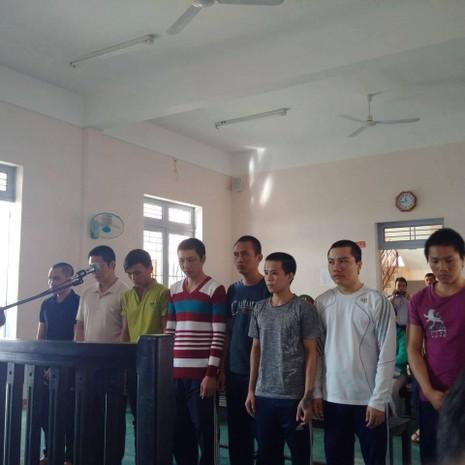 8 bị cáo tại phiên tòa