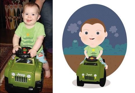 Siêu đáng yêu em bé từ ảnh thật bước vào đồ họa - ảnh 11