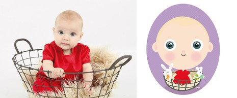 Siêu đáng yêu em bé từ ảnh thật bước vào đồ họa - ảnh 5