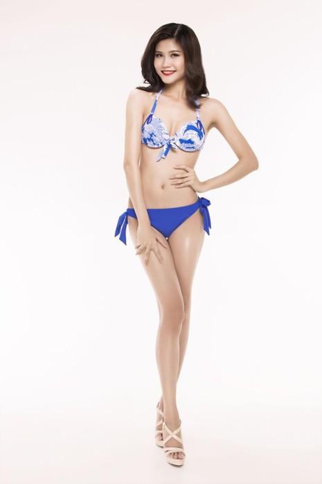 Ngắm thí sinh 'Hoa hậu Việt Nam 2016' qua trang phục bikini - ảnh 1