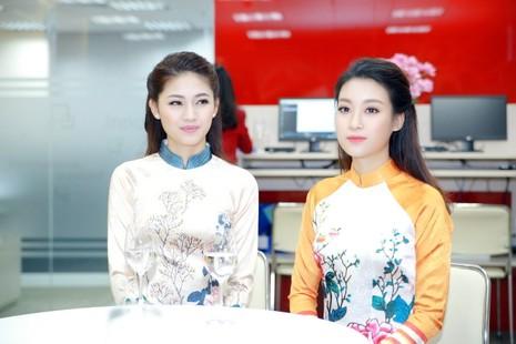Mỹ Linh, Thanh Tú diện áo dài của hoa hậu Ngọc Hân - ảnh 8