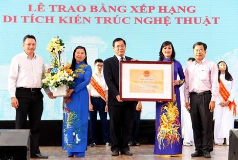 Trường Lê Hồng Phong được công nhận Di tích Kiến trúc Nghệ thuật  - ảnh 1