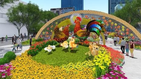 đại gia đình gà cho đường hoa tết Đinh Dậu 2017