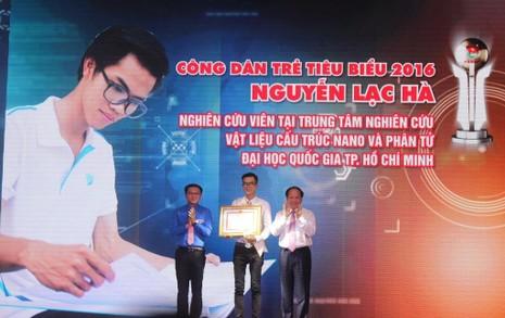 Gương công dân trẻ Nguyễn Lạc Hà được vinh danh