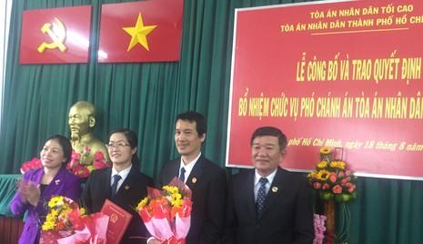 TP.HCM: Bổ nhiệm hai phó chánh án quận Tân Bình - ảnh 1