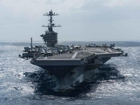 Đội tàu sân bay tấn công của Mỹ tới biển Đông - ảnh 1