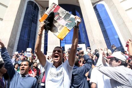 2.000 người biểu tình lật đổ chính phủ ở Ai Cập   - ảnh 1