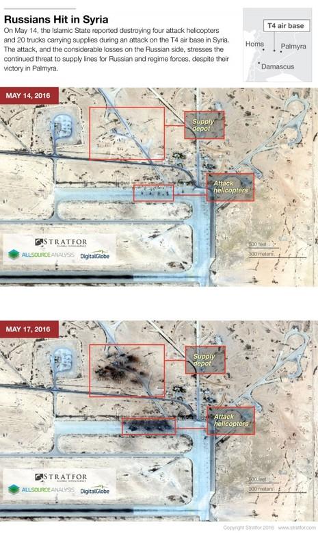 Nga bác bỏ tin IS phá hủy 4 trực thăng Nga ở Syria - ảnh 1