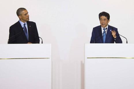 Tổng thống Obama và Thủ tướng Abe nói cứng về biển Đông - ảnh 1