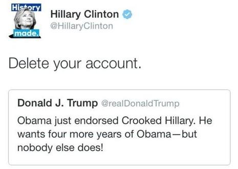 Bà Clinton và ông Trump chiến nhau trên mạng - ảnh 2