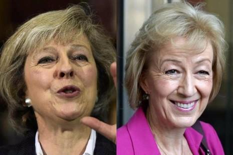 Hai ứng viên hàng đầu sẽ thay thế Thủ tướng David Cameron, bà Theresa May (trái) và Andrea Leadsom.