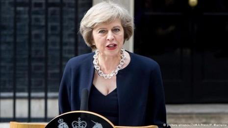 Tân Thủ tướng Theresa May phát biểu nhậm chức ngày 13-7.
