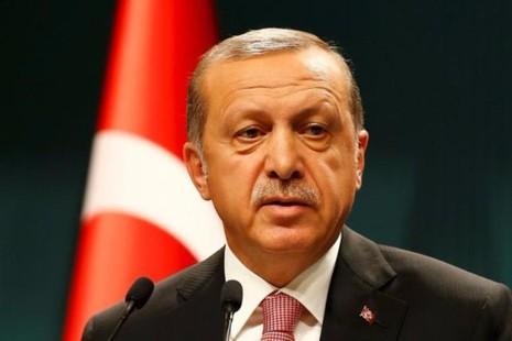 Tổng thống Erdogan họp báo tại Ankara ngày 20-7.