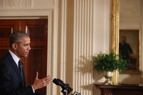 Tổng thống Obama họp báo ngày 22-7 tại Mỹ khẳng định Mỹ không liên quan đảo chính Thổ Nhĩ Kỳ.