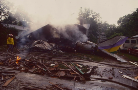 Hiện trường tai nạn ở bang Alabama năm 1991 làm 13 người chết.