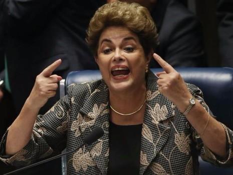 Bà Rousseff trong cuộc trả lời chất vấn Thượng viện ngày 28-8.
