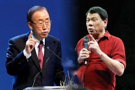 Ông Duterte từ chối gặp ông Ban Ki-moon sau khi ông Ban chỉ trích cuộc truy quét tội phạm ma túy của ông.