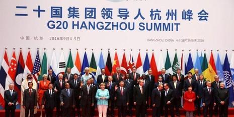 Các lãnh đạo G20 tham dự hội nghị tại Hàng Châu (Trung Quốc).