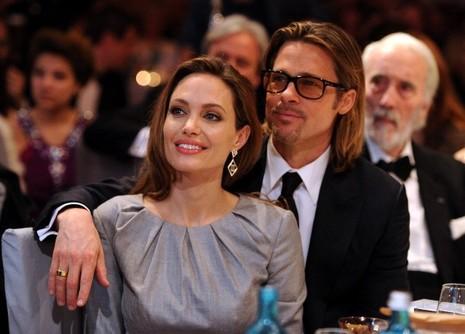 Angelina Jolie và Brad Pitt tham gia Liên hoan Phim Berlin lần thứ 62 ở Đức tháng 2-2012.