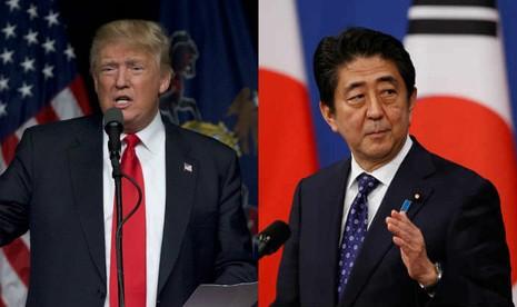 Các quan chức Nhật cho biết chưa được phía ông Trump xác nhận kế hoạch cụ thể cuộc gặp giữa hai ông Trump (trái) và Abe.
