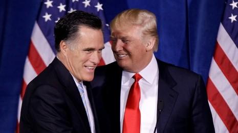 Hai ông Romney (trái) và Trump từng không ưa nhau.