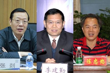 Từ trái qua: Các ông Trương Diệm, Lý Kiến Cần, Trần Trung Thứ. Ảnh: SHANGHAIIST