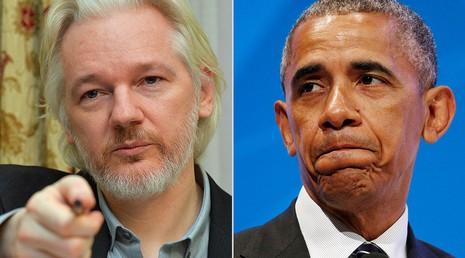 Nhà sáng lập WikiLeaks Julian Assange (trái) và Tổng thống Mỹ Barack Obama. Ảnh: REUTERS