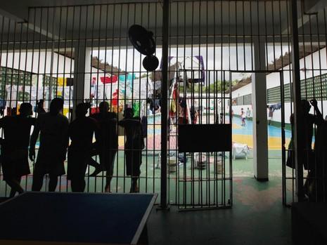 Nhà tù Anisio Jobim, nơi xảy ra vụ bạo động làm 56 tù nhân chết ngày 2-1. Ảnh: GETTY IMAGES