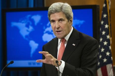 Ngoại trưởng Mỹ John Kerry trong cuộc họp báo chia tay ngày 5-1 ở Bộ Ngoại giao tại Washington (Mỹ). Ảnh: AP