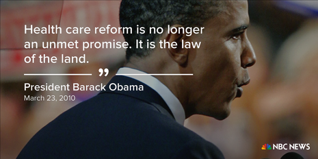 Tổng thống Obama tuyên bố ngày 23-3-2010 khi luật bảo hiểm y tế được thông qua.