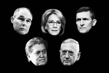 Một số thành viên nội các ông Trump. Ảnh: GETTY IMAGES