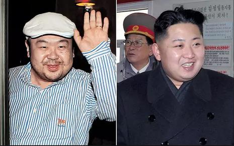 Ông Kim Jong-nam (trái), anh trai lãnh đạo Triều Tiên Kim Jong-un (phải) vừa bị ám sát tại Malaysia. Ảnh: TELEGRAPH