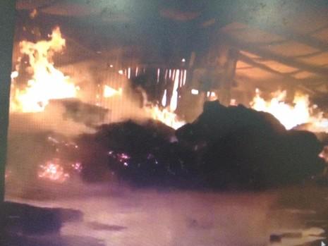 Vụ cháy lớn tại công ty sản xuất sản phẩm gỗ
