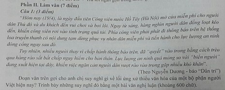 Đề thi được trích từ cuốn sách.