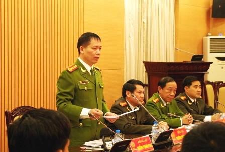 Công an Hà Nội họp báo vụ cả nhà bị sát hại - ảnh 1